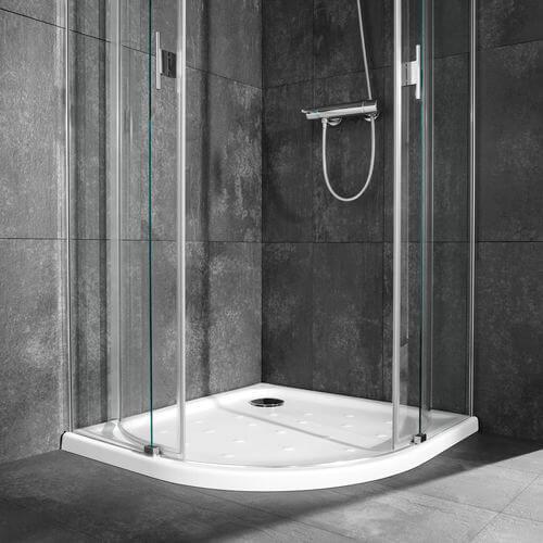 Plato de ducha semicircular